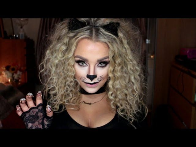 Cat Halloween Make Up Tutorial - Video --> http://www.comics2film.com/cat-halloween-make-up-tutorial/  #Cosplay