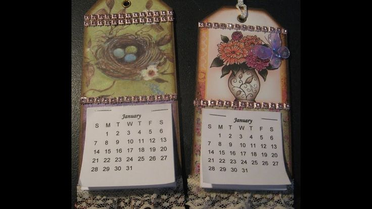 How to make calendar tags... super easy for craft fairs, gifts