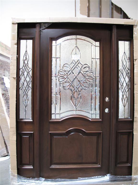 5 0 X 6 8 Mahogany Front Unit Pre Hung Finished 2 Panel Eybrow Tmh7501 Glagm Rustic Doors Custom Interior Doors Discount Interior Doors