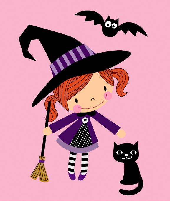 Halloween-Applikation für Kinder mit Hexenmotiv - Download via Makerist.de