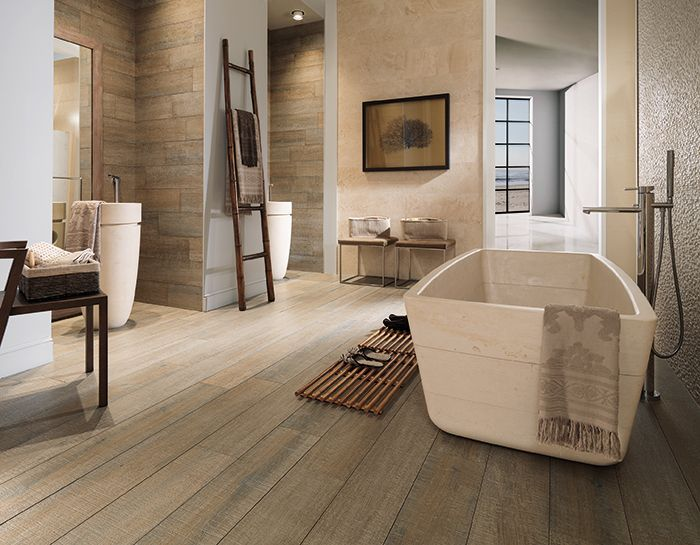 love the porcelain tile wood flooring color for master bedroom Wood-Look (Par-ker) tile: Britania Gales