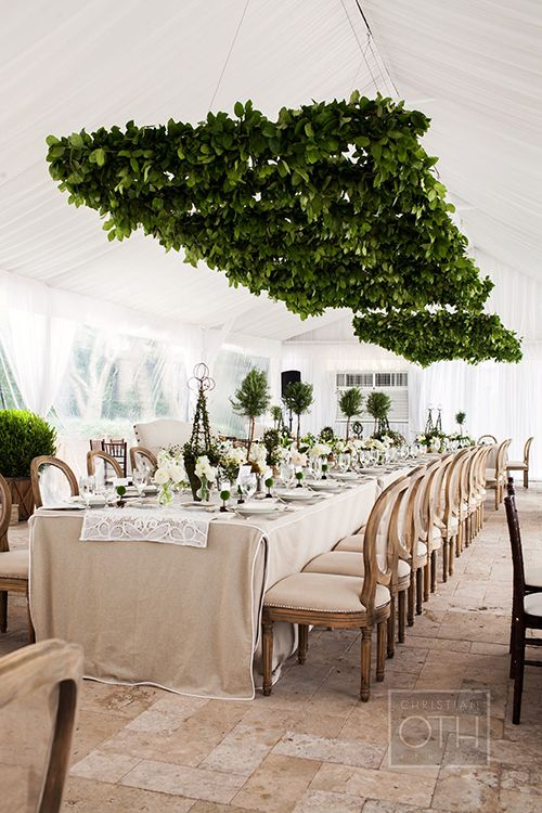 Lush foliage chandeliers