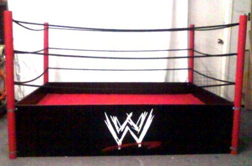 Wrestling ring bed with ropes wrestling wwe bed for Boxing bedroom ideas