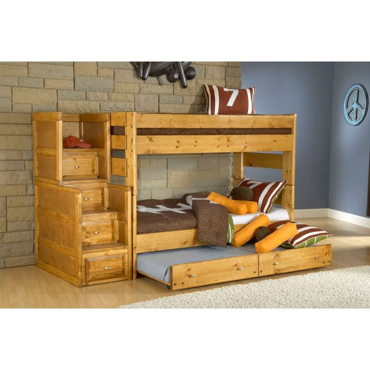 Trendwood Inc Visions Bunk Bed Trundle With Mattress