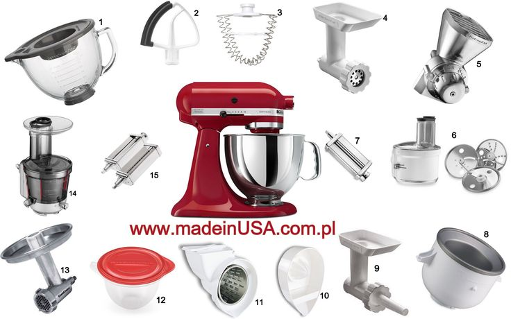 Kitchenaid Mixer And All Attachments Www Madeinusa Pl Pinterest Mixers
