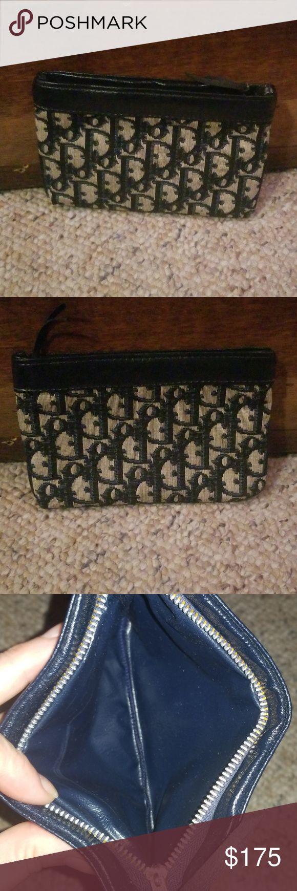 Vintage Christian Dior makeup bag or coin purse Mint