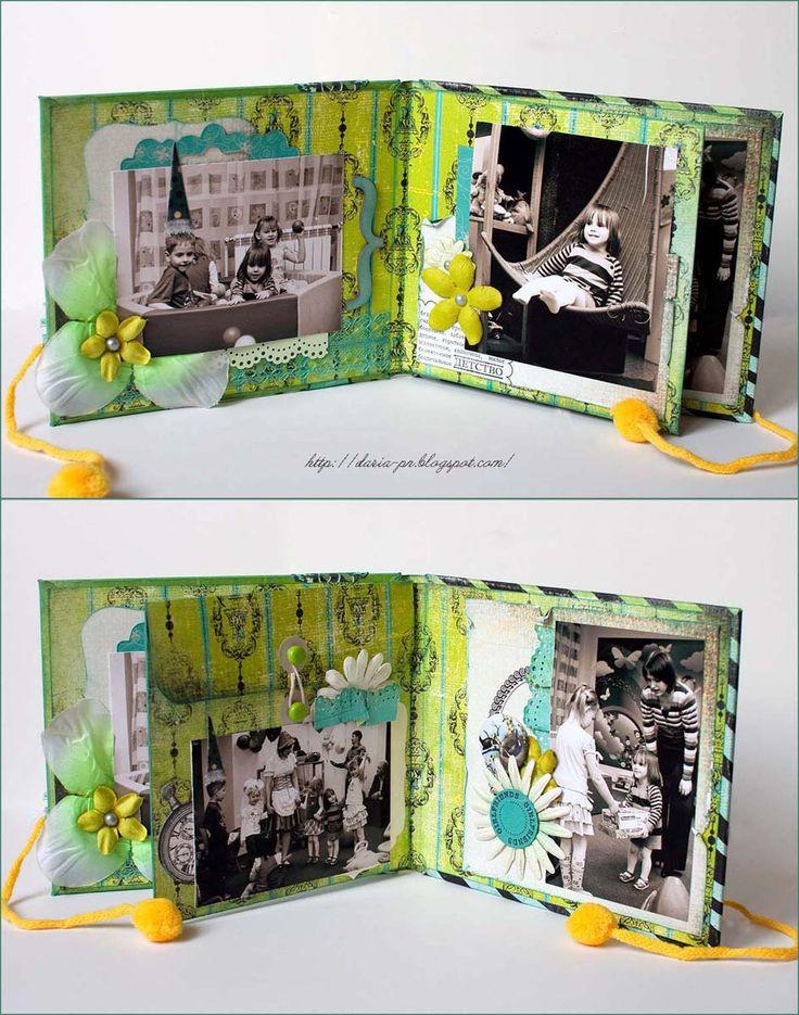 Скрап-фантазии: Мастер-класс от Даши: мини-альбом с конвертом для диска