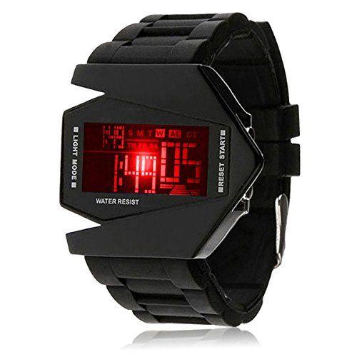 Silikon LED LCD Uhr Digital Armbanduhr Herren Damen Fliegeruhr Camouflage Militär Military Trend Gummi Unisex Sport schwarz - http://uhr.haus/autiga/silikon-led-lcd-uhr-digital-armbanduhr-herren-2