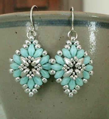 Linda's Crafty Inspirations: Cute & Easy Earrings - Aqua & Silver