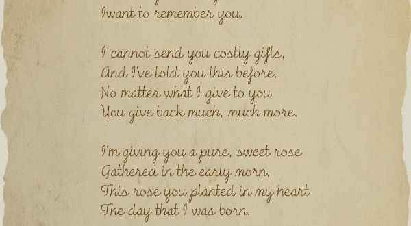 Best Mother's Day Poems 2016 - Mothers Day 2016Mothers Day 2016
