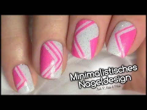 Minimalistisches Nageldesign Einfach Selber Machen Nagel Lackieren
