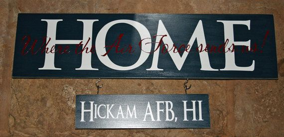 Hey, I found this really awesome Etsy listing at https://www.etsy.com/listing/165555938/home-is-where-the-air-force-army-navy