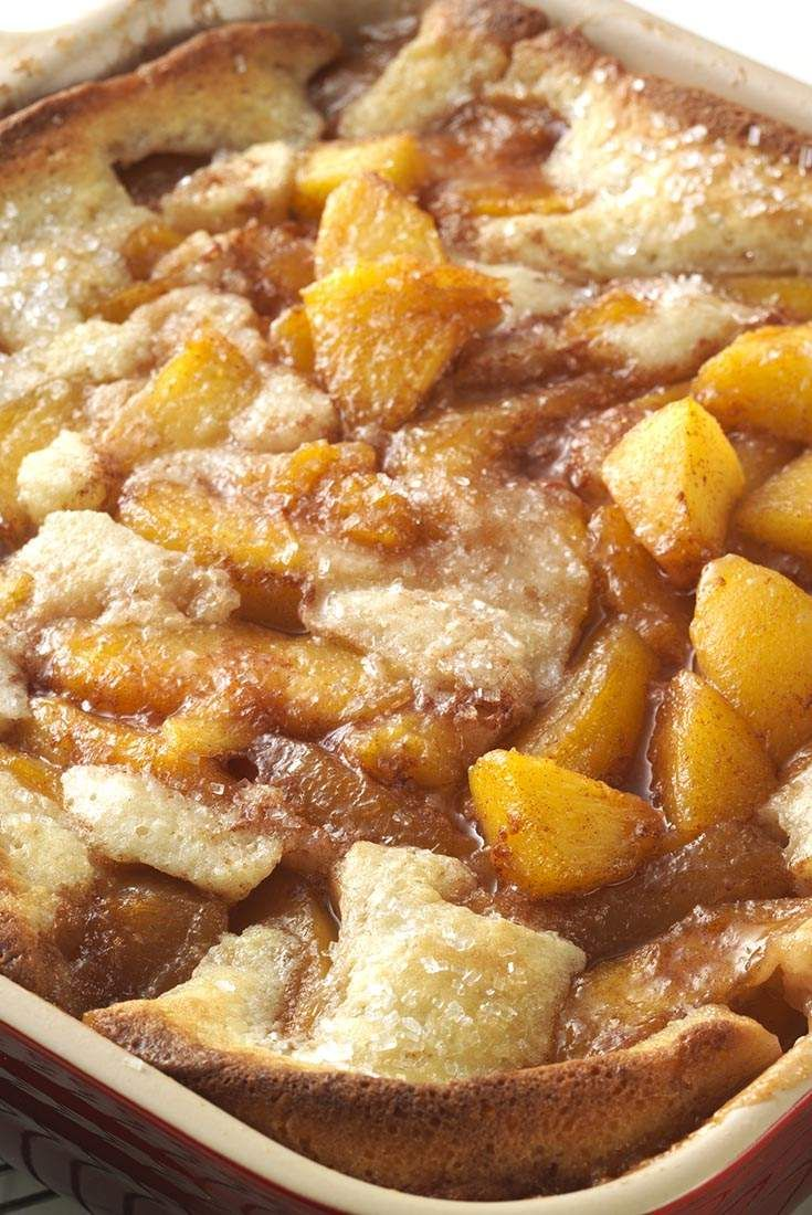 Gluten-Free Peach Cobbler - SO good!!! I used Pamela's pancake mix, vanilla coconut milk, half butter/half coconut oil, and much less sugar.