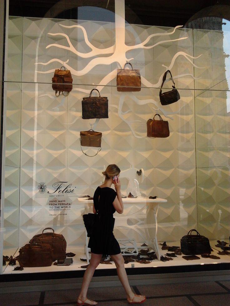 Felisi shop window at la Rinascente in Milan, June 2013