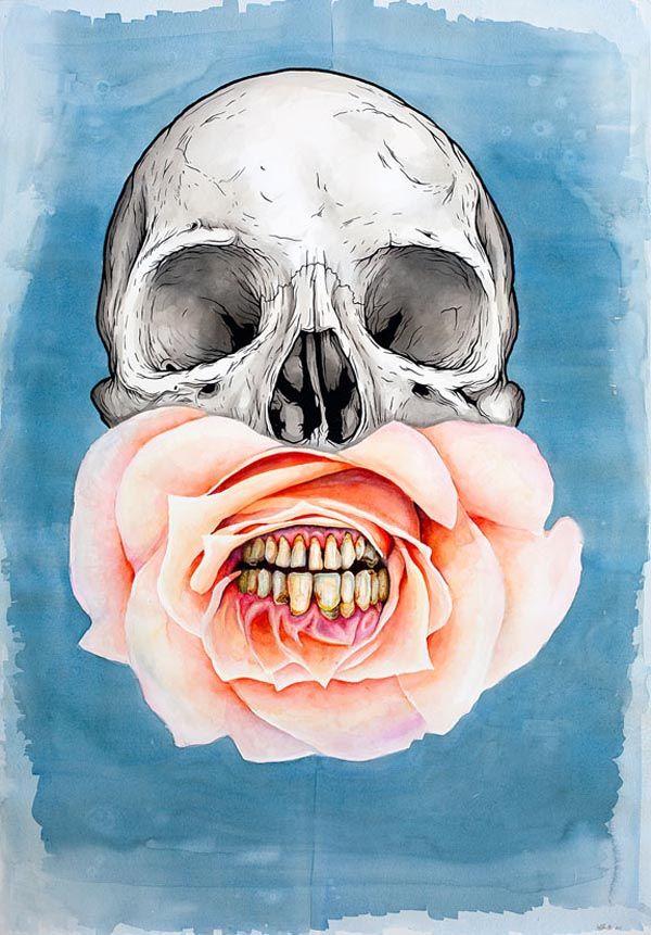 flowery skull! Artworks by Jeff Proctor: Tattoo Ideas, Skull Tattoo, Art Prints, Skull Illustration, Floral Skull, Contemporary Art, A Tattoo, Skull Art, Jeff Proctor