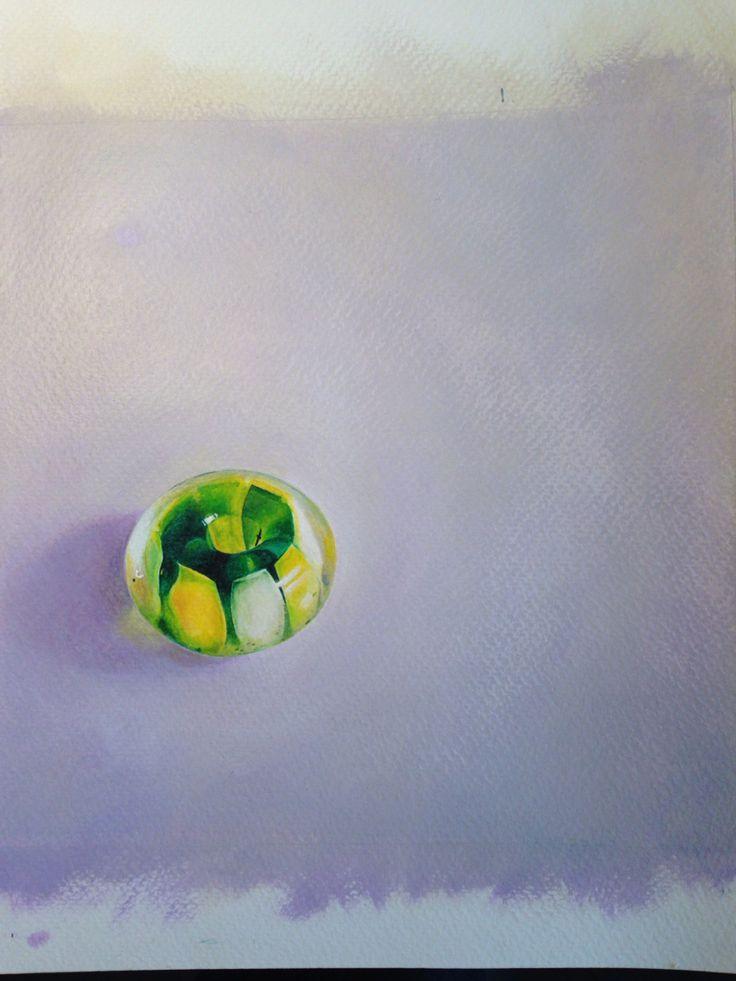 Nalu bead. Acrylic painting.