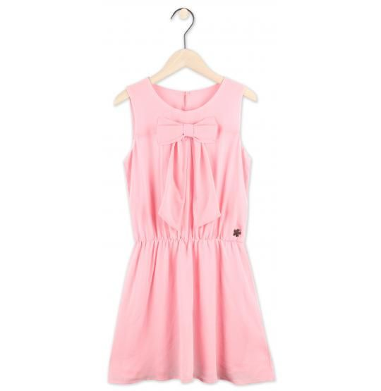 Roze chiffon kleedje Violetta