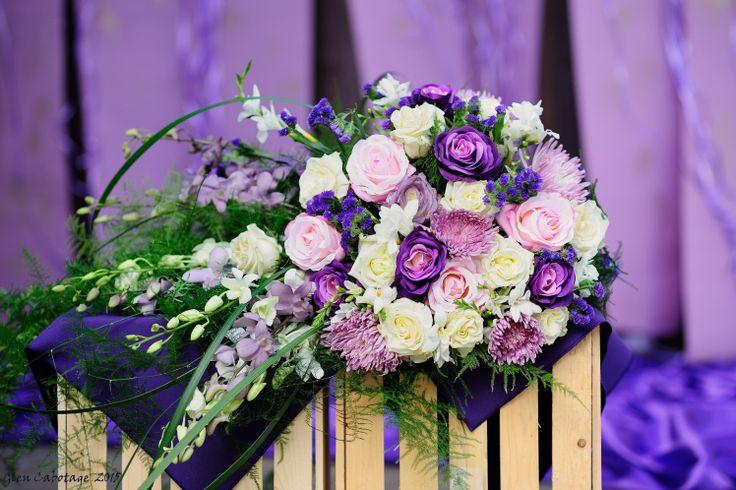 Purple bridal bouquet!