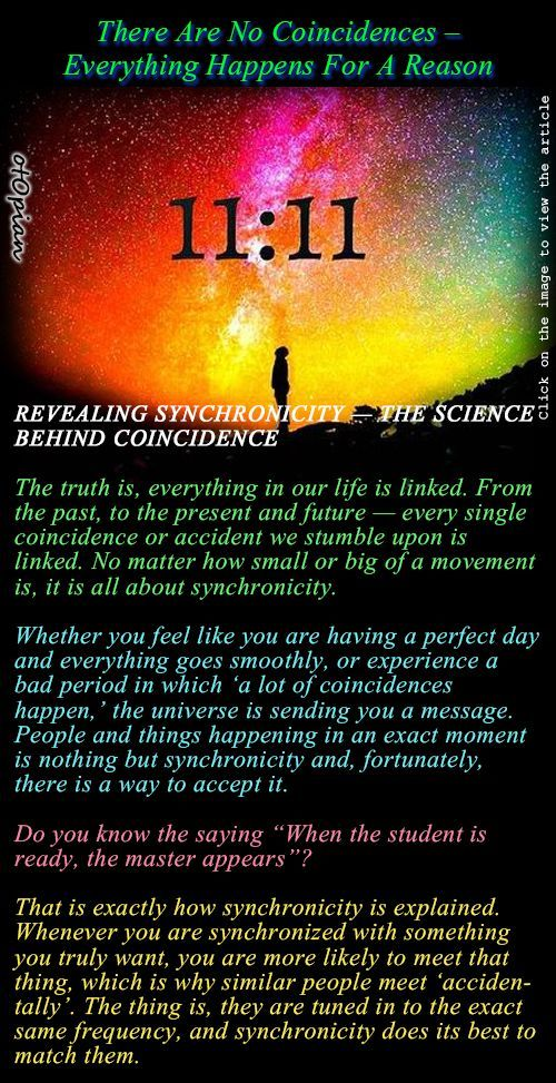 There Are No Coincidences – Everything Happens For A Reason