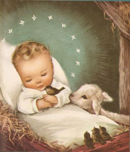 Jesús niño en pesebre