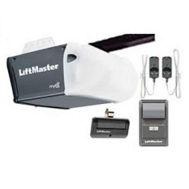 Liftmaster 8164w 1 2 Hp Ac Chain Drive Garage Door Opener No Rail Liftmaster Garage Doors Garage Door Opener