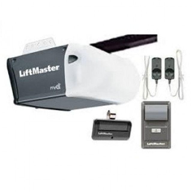 Liftmaster 8164w 1 2 Hp Ac Chain Drive Garage Door Opener No Rail Liftmaster Garage Doors Garage Door Opener
