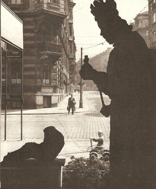 Prague street in 50's: Tibor Honty