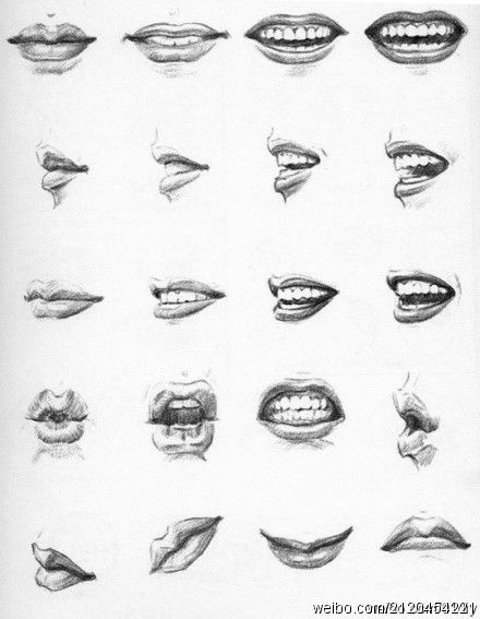Line Drawing Lips : Drawing mouths if you re going to draw the teeth make