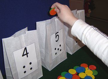 Paper Bag Counting: childcareland.com - Early Learning Activities For Pre-K and Kindergarten