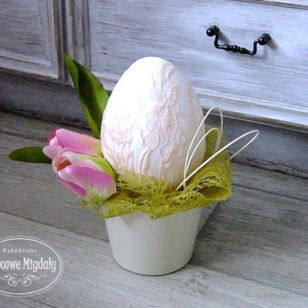 Dekoracja wiosenna, stroik wielkanocny - Wielkanoc - Ozdoby świąteczne