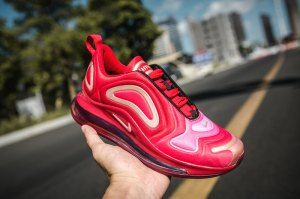 e64e0fba9783 Nike Air Max 720 Bright Red White Women s Casual Shoes