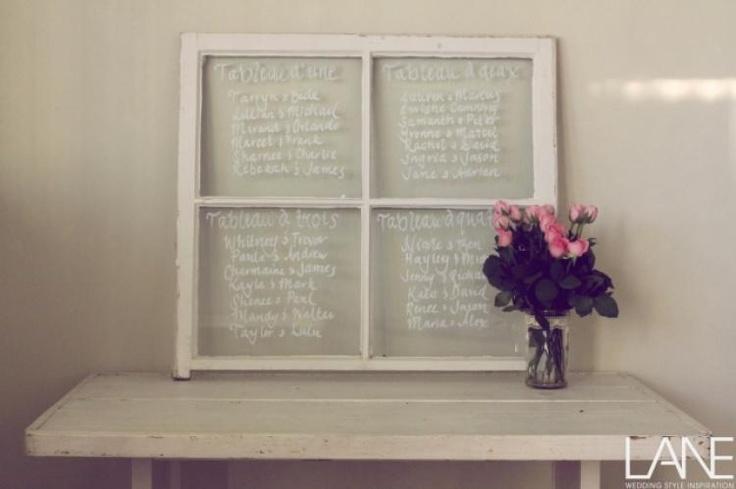 DIY Window Seating Chart / Wedding Style Inspiration / LANE