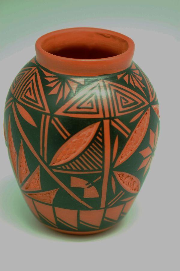 Acoma Hand Painted Pottery Vase | Acoma Pottery | Native American Pottery