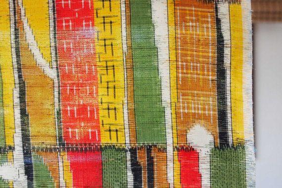 Tessuto bullone Tsumugi seta seta grezza Vintage di LaKimonoya