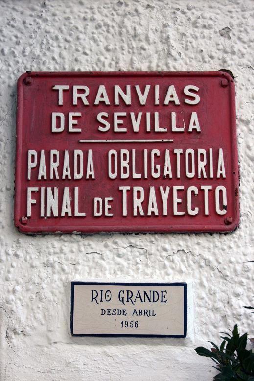 Restaurante Río Grande. antigua parada de fin de trayecto del tranvía.  http://riogrande-sevilla.com/