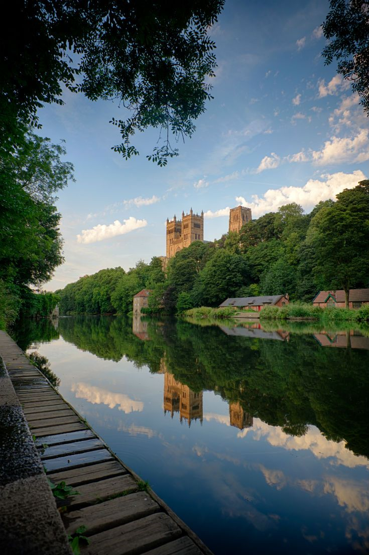 Enjoy a relaxing riverside walk in Durham City admiring the spectacular views of the Cathedral and Castle.. (Credit Visit England)