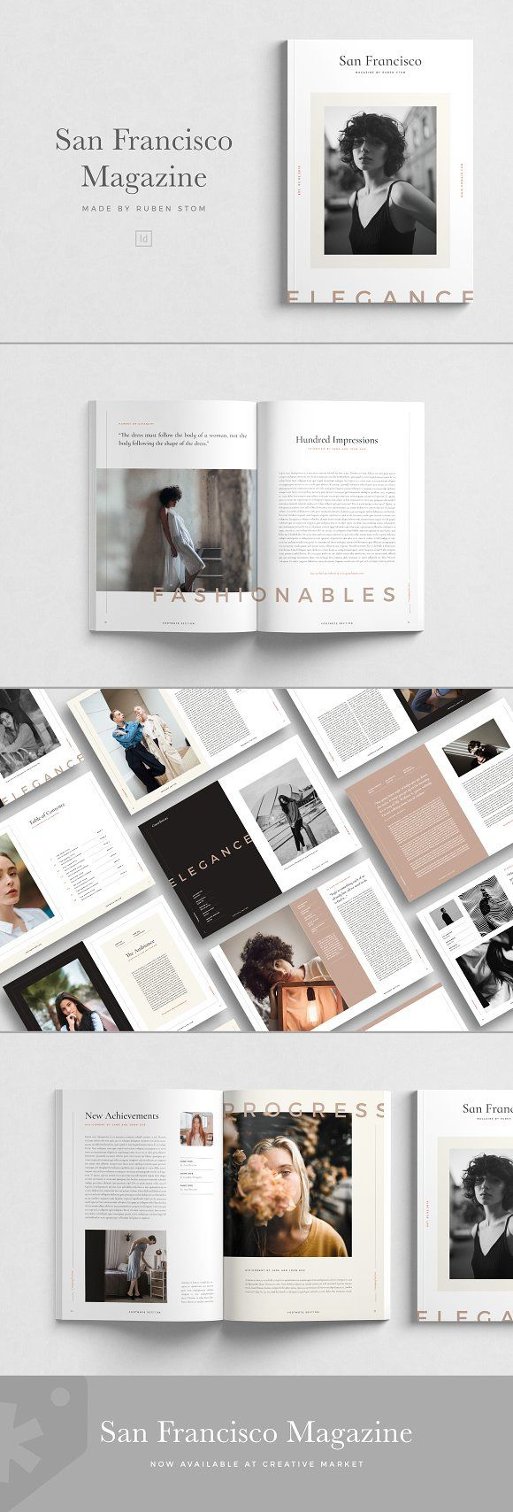San Francisco Magazine by Ruben Stom on Creative Market