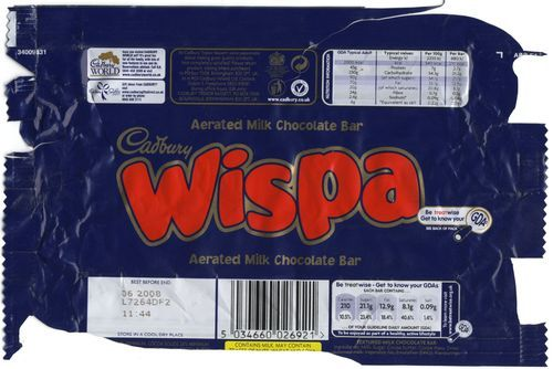Cadbury Wispa @ChocolateReview Launched in 1983. Replaced with Dairy Milk with Bubbles in 2003. Returned for a limited time on 8th October 2007 (slight recipe change, 2% less cocoa,