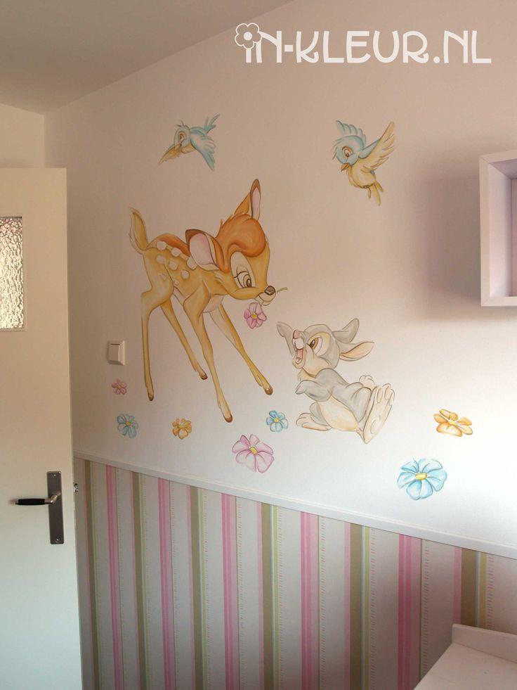 Bambi muurschildering