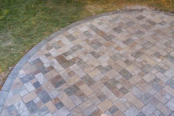 Organically Curved Concrete Patio With Individually Hand