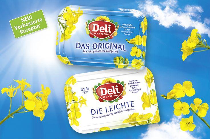 Deli Reform Margarine. Packaging mit mehr Frische und Natur. Design von adworx.