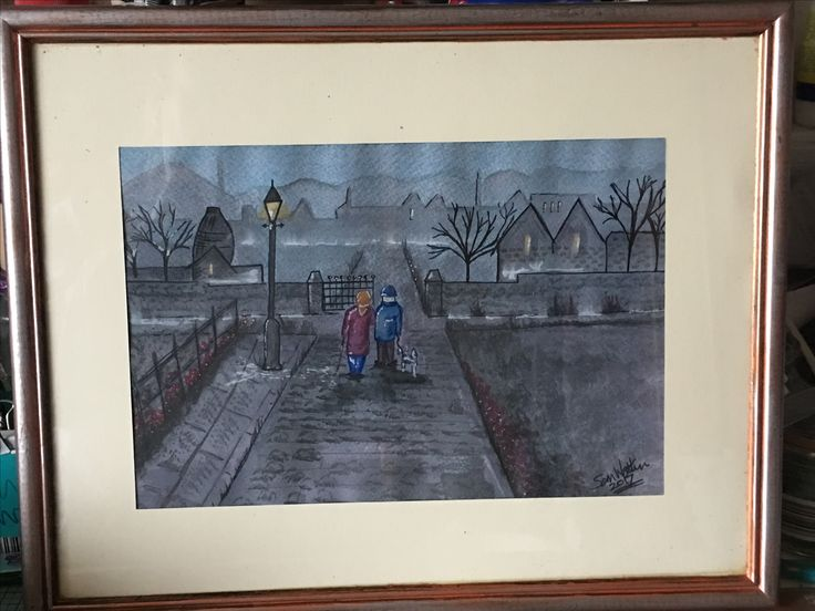 Painting using spectrum aqua pens done in the style of Sid Kirkham as a present for my mum and dad