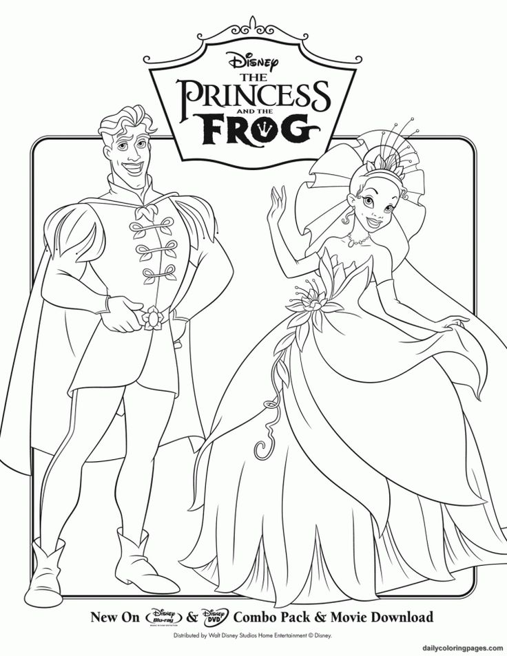 Disney Princess Coloring Pages Frog 06