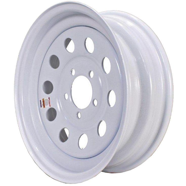2040 lb. Load Capacity White with Stripe Modular Steel Wheel Rim