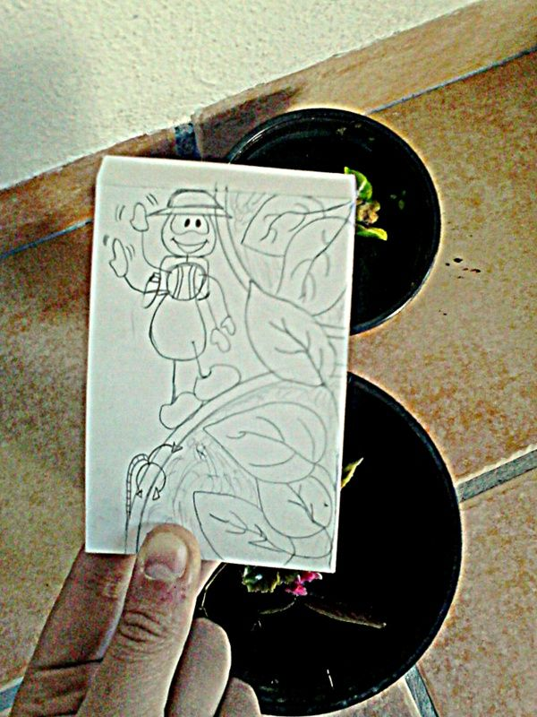 Tarea de Dibujo vs Cámara. La hormiga exploradora.