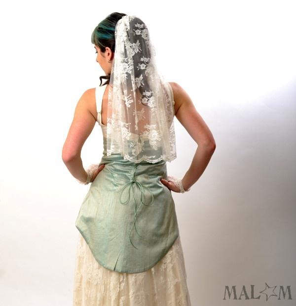 Wedding Dress with swallowtail lace-up - Mermaid wedding gown - alternative wedding dress CUSTOM. €1,635.00, via Etsy.