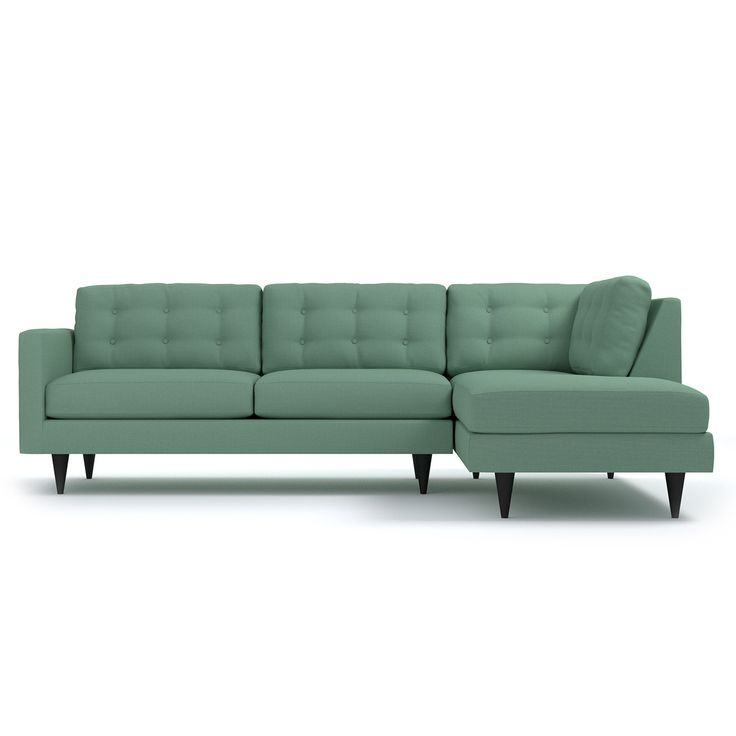 Add a bit of vintage glamour to your space with the Logan. Sleek wood legs and button tufted back cushions take this modern shape to an elevated level.  sc 1 st  Pinterest : sleek sectional sofa - Sectionals, Sofas & Couches