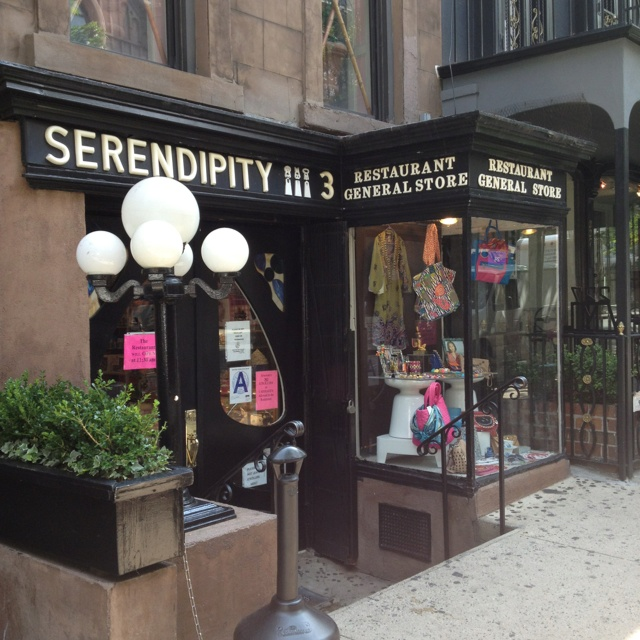 Serendipity NYC...love...been here with my niece.  Frozen hot chocolate omg.