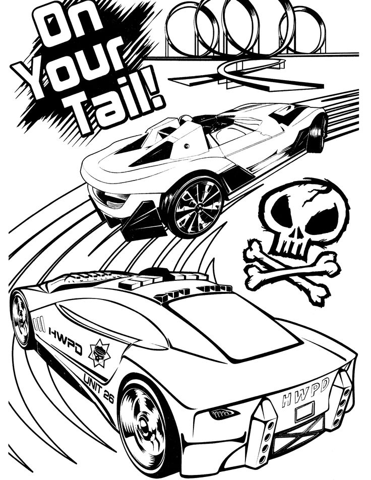 hot wheel free coloring pages - photo#18