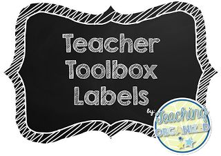 FREE Chalkboard Teacher Toolbox Labels